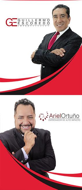 Guillermo Escobedo y Ariel Ortuño